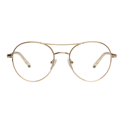 Karen Walker Uni-sex Millo Khaki Round Optical Frames