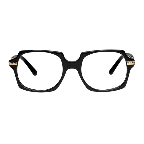 Karen Walker Uni-sex Alek Black Square Optical Frames