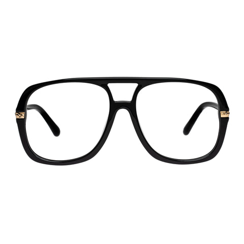 Karen Walker Uni-sex Nettie Black Aviator Optical Frames