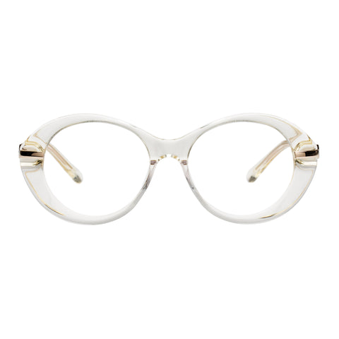Karen Walker Female Cindy Clear Oval Optical Frames