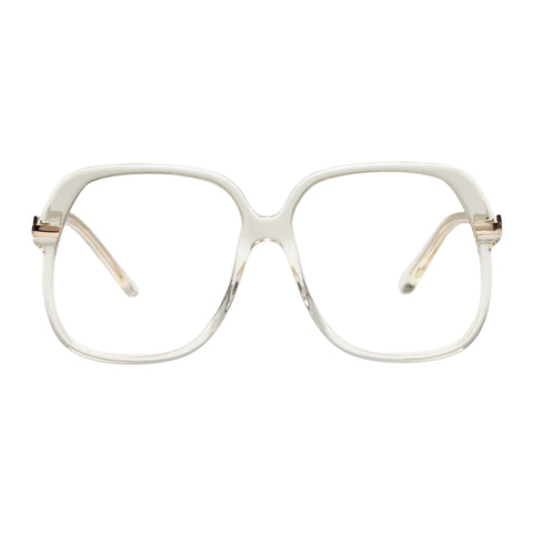 Karen Walker Female Harriet Alt Fit Clear Aviator Optical Frames