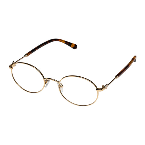 Karen Walker Uni-sex Ada Gold Oval Optical Frames