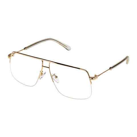 Karen Walker Uni-sex Melba Gold Aviator Optical Frames