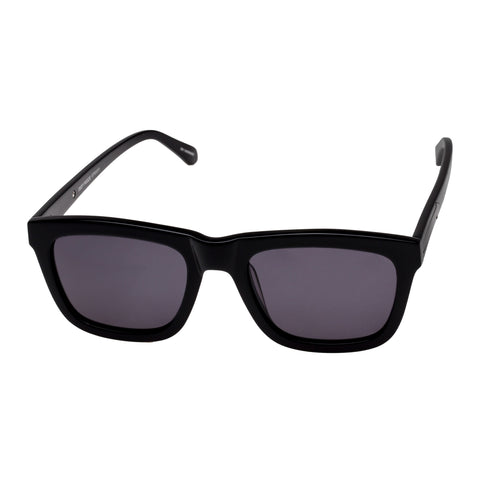 Karen Walker Uni-sex Deep Freeze Black Modern Rectangle Sunglasses