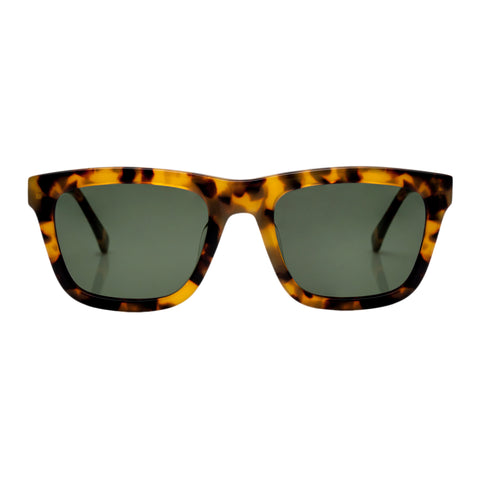 Karen Walker Uni-sex Deep Freeze Tort Modern Rectangle Sunglasses