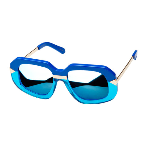 Karen Walker Female Hollywood Creeper Blue Square Sunglasses