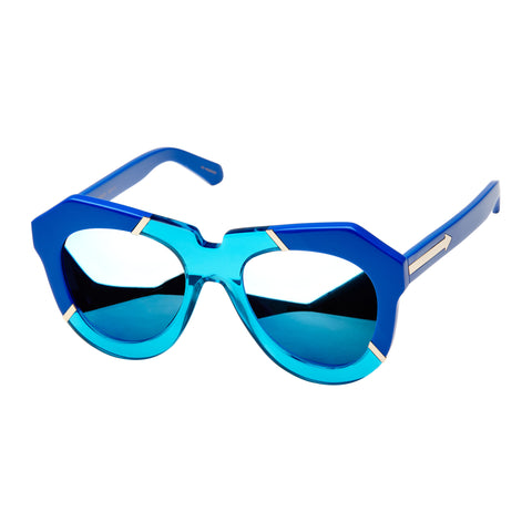 Karen Walker Female One Splash Blue Cat-eye Sunglasses