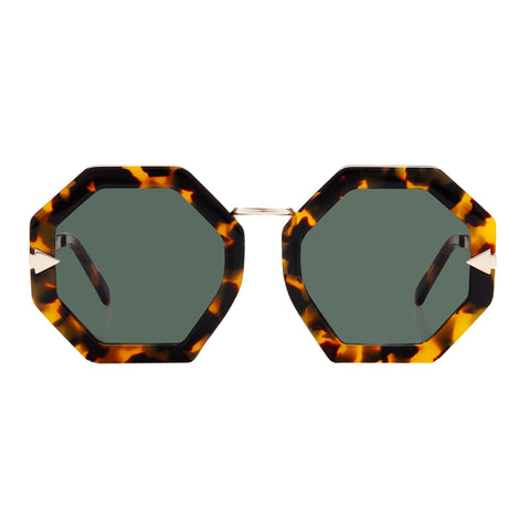 Karen Walker Female Moon Disco Tort Octagon Sunglasses