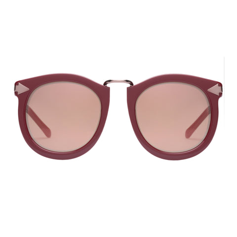 Karen Walker Female Super Lunar Red Round Sunglasses