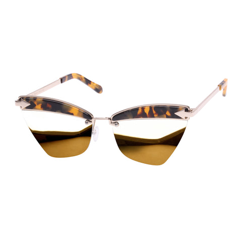 Karen Walker Female Sadie Tort Cat-eye Sunglasses