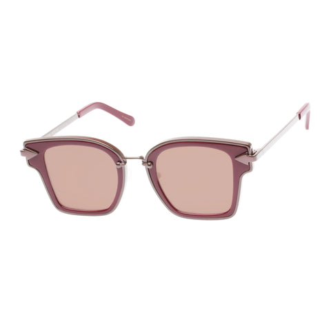 Karen Walker Uni-sex Rebellion Red Square Sunglasses