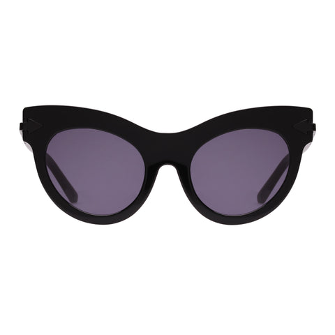 Karen Walker Female Miss Lark Black Cat-eye Sunglasses