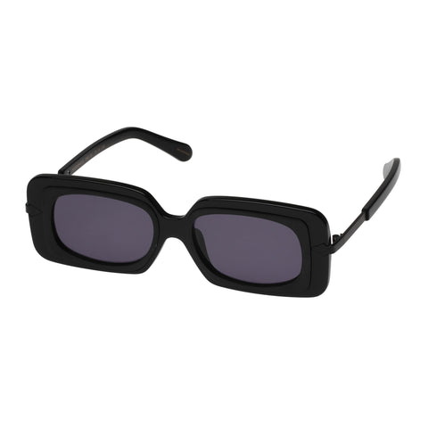 Karen Walker Female Mr Binnacle Black Shield Sunglasses