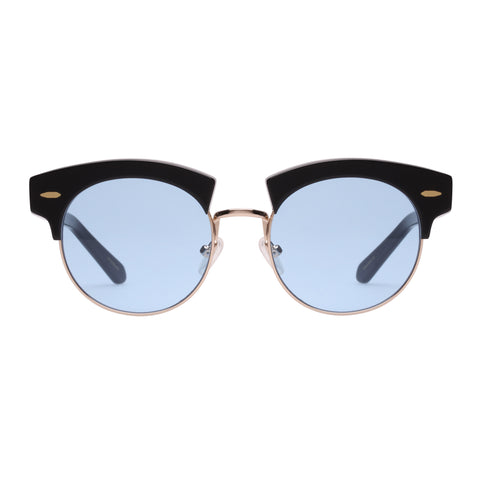 Karen Walker Uni-sex The Constable Black Round Sunglasses