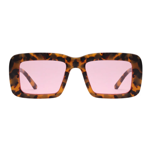 Karen Walker Female Admiral Boom Tort Square Sunglasses