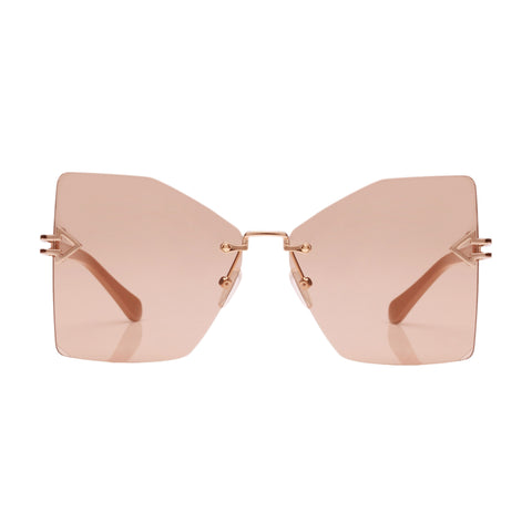 Karen Walker Female Wanderlust Tan Butterfly Sunglasses