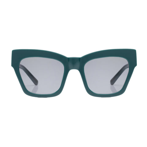 Karen Walker Female Treasure Green Cat-eye Sunglasses