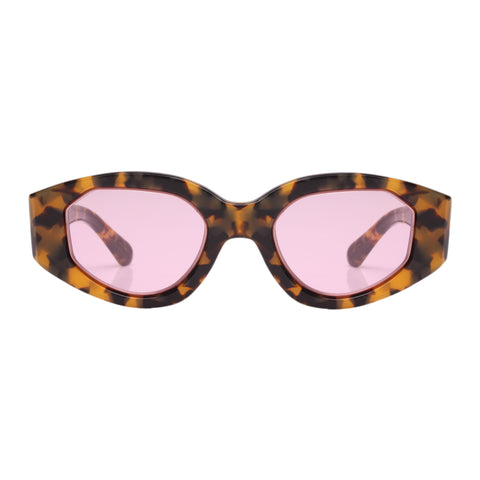 Karen Walker Female Castaway Tort Oval Sunglasses