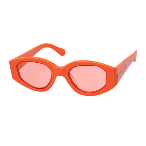 Karen Walker Female Castaway Orange Oval Sunglasses