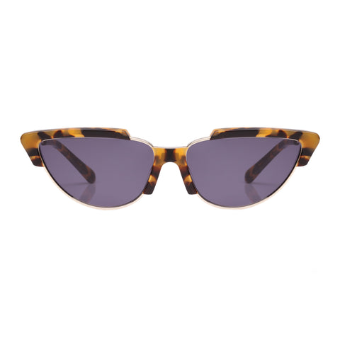 Karen Walker Female Tropics Tort Cat-eye Sunglasses