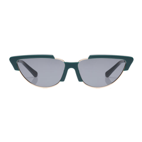 Karen Walker Female Tropics Green Cat-eye Sunglasses