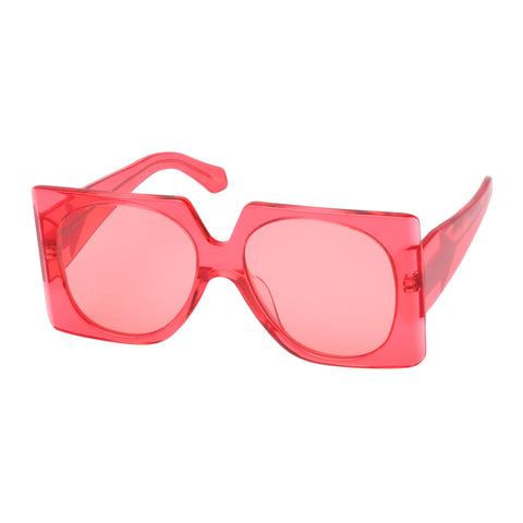 Karen Walker Female Return To Sender Pink Square Sunglasses