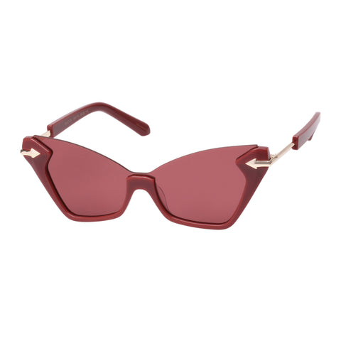Karen Walker Female Sweet Cat Burgundy Cat-eye Sunglasses