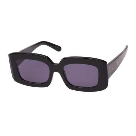 Karen Walker Female Loveville Black Rectangle Sunglasses