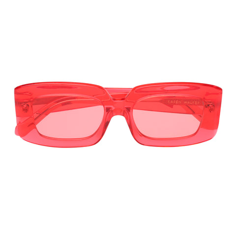Karen Walker Female Loveville Pink Rectangle Sunglasses