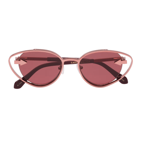 Karen Walker Female Kissy Kissy Burgundy Cat-eye Sunglasses