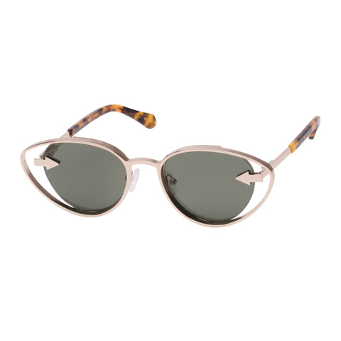 Karen Walker Female Kissy Kissy Gold Cat-eye Sunglasses