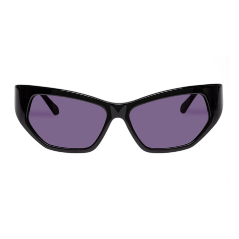 Karen Walker Female Superhero Black Wrap Fashion Sunglasses
