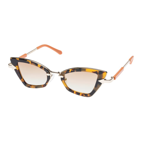 Karen Walker Female Bad Apple Tort Cat-eye Sunglasses