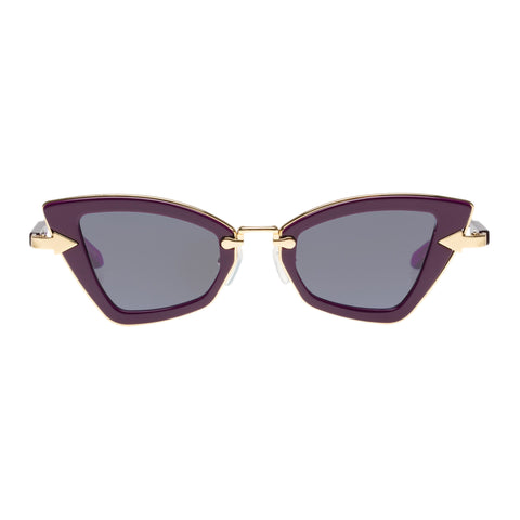 Karen Walker Female Bad Apple Purple Cat-eye Sunglasses