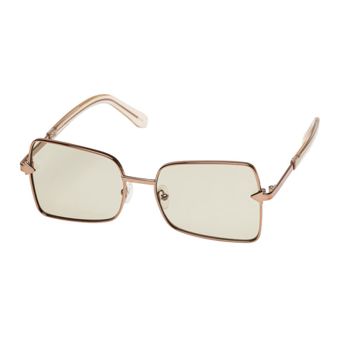Karen Walker Female Wisdom Gold Square Sunglasses