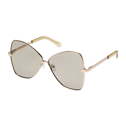 Karen Walker Female Queen Gold Butterfly Sunglasses