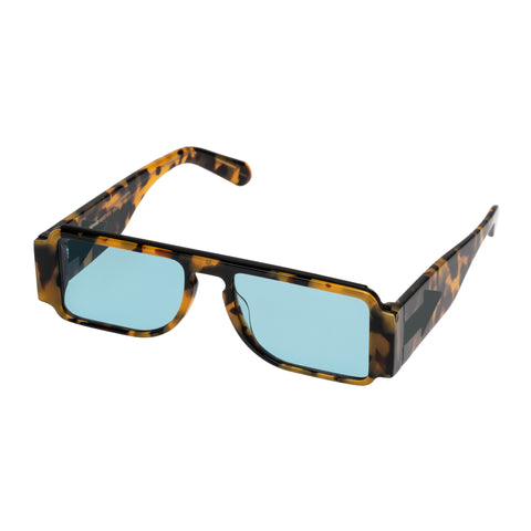 Karen Walker Female Grandmaster Tort Rectangle Sunglasses