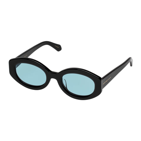 Karen Walker Female Bishop Black Oval Sunglasses