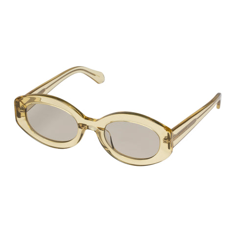 Karen Walker Female Bishop Yellow Oval Sunglasses