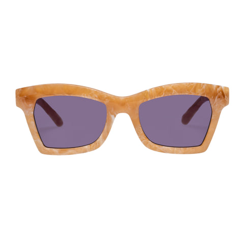 Karen Walker Female Blessed X Coveteur Brown Cat-eye Sunglasses