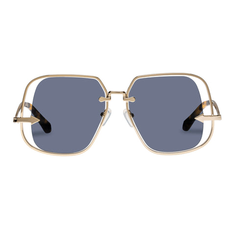 Karen Walker Female Hypatia Gold Square Sunglasses