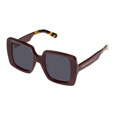Karen Walker Female Isadore Burgundy Square Sunglasses