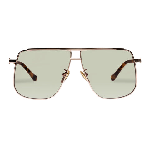Karen Walker Female Furnace Gold Aviator Sunglasses