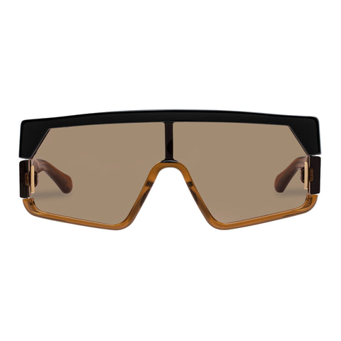 Karen Walker Female Vorticist Tan Shield Sunglasses