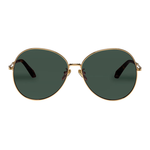 Karen Walker Female Afterglow Gold Round Sunglasses