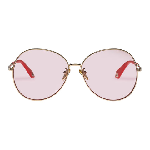 Karen Walker Female Afterglow Rose Round Sunglasses