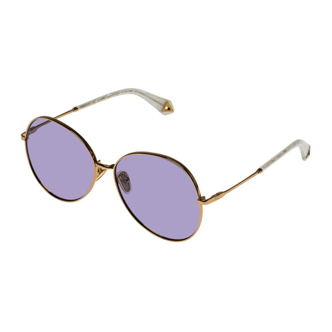 Karen Walker Female Afterglow Bronze Round Sunglasses