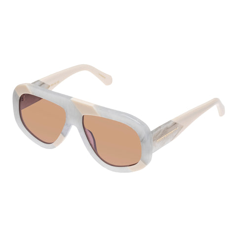 Karen Walker Female Centurion Tan Shield Sunglasses