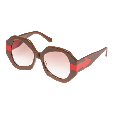 Karen Walker Female Phoenix Tan Octagon Sunglasses