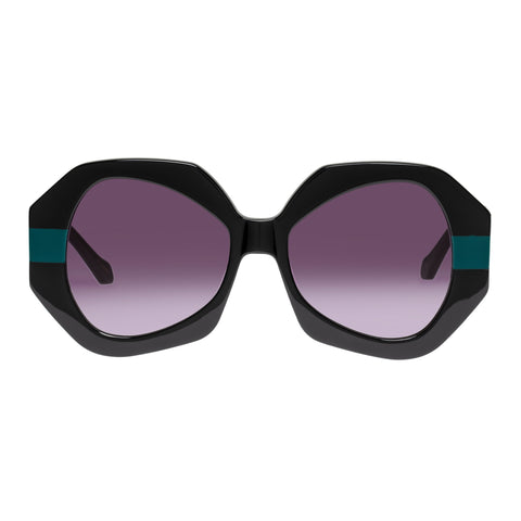 Karen Walker Female Phoenix Black Octagon Sunglasses